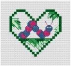Go to Inchworm Cross Stitch pattern page