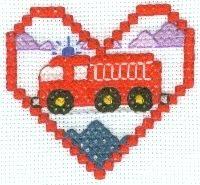 Fire Truck Cross Stitch Pattern