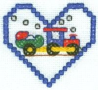 Baby's Train Cross Stitch Pattern