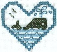 Whale Cross Stitch Design