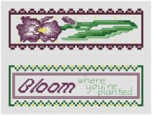 Go to Garden Treasures - Iris Bookmark pattern page