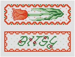 Go to Garden Treasures - Tulip Bookmark pattern page