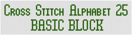 Example of Block Alphabet 25