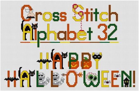 Halloween Alphabet Cross Stitch Pattern