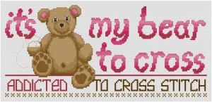 Go to My Bear to Cross cross stitch pattern page