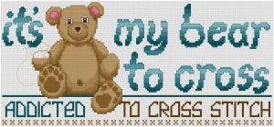 Go to My Bear to Cross cross stitch pattern page