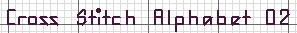 Alphabet 02 'Mini Line'