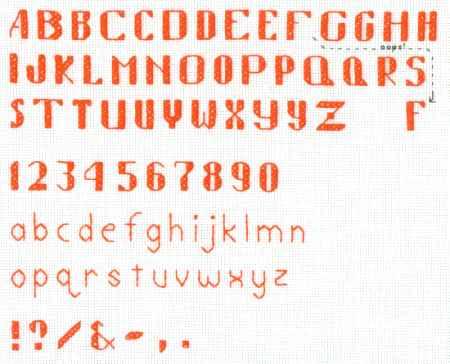 Free Cross Stitch Alphabet Pattern #01