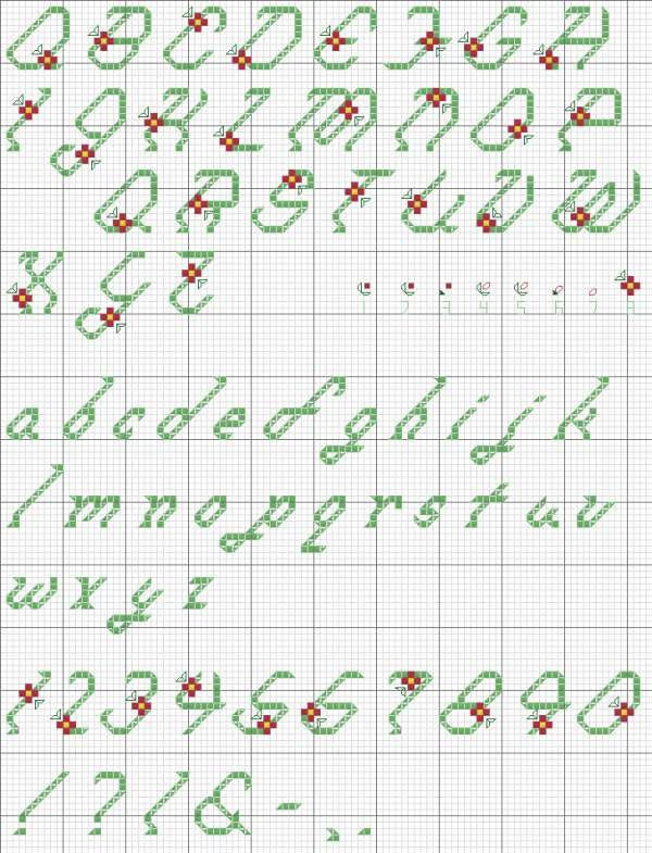 CROSS STITCH LETTER PATTERNS « Free Patterns
