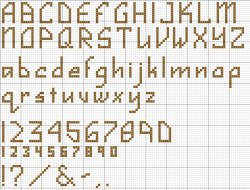 Alphabet Counted Cross Stitch Patterns – Catalog of Patterns