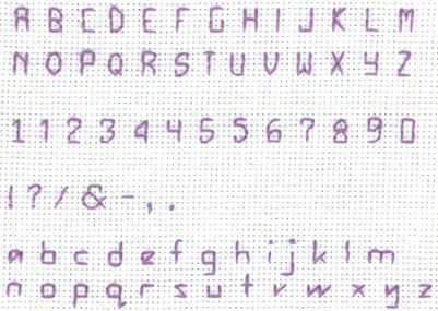 Free Alphabet Cross Stitching Pattern – Lena Patterns