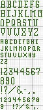 Block Alphabet 25 Printable Cross Stitch Pattern