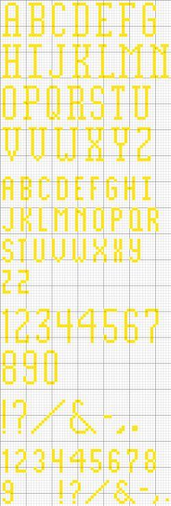 elongated alphabet 26 printable cross stitch pattern