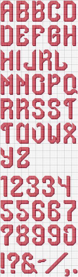 Santa Cross Stitch Alphabet Pattern