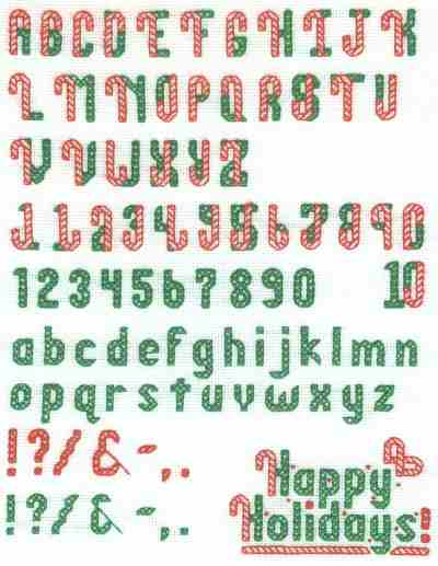 christmas cross stitch letters