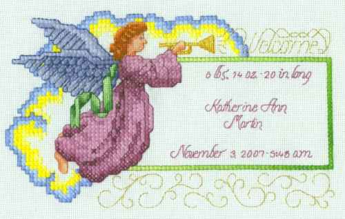 free angel cross stitch patterns