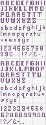 Cross Stitch Alphabet 21