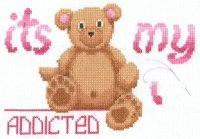 My Bear to Cross Stitching Progress