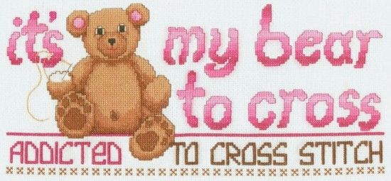 Cute Bear Cross Stitch Pattern Download