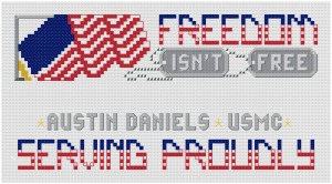 Go to Freedom Isn't Free Bookmark pattern page
