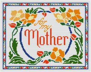Go to For My Mother cross stitch pattern page