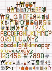 This Happy Halloween Alphabet  comes complet with graphic letters and 27 separate images to capture the fun of Autumn's first holliday.