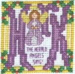 Herald Angel Finished Stitching