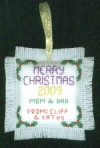 Hark Christmas Cross Stitch Reverse Side