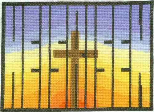 He Is Risen Cross Stitch