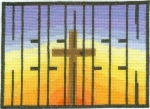 He Is Risen Completed Cross Stitch Version 2
