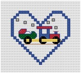 Go to Train Cross Stitch pattern page