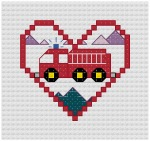 Go to Firetruck Cross Stitch pattern page