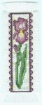 Iris Bookmark Cross Stitch