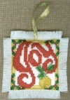 Joy Cross Stitch Ornament Pattern - front