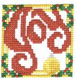Joy Christmas Cross Stitch with Some Backstitching