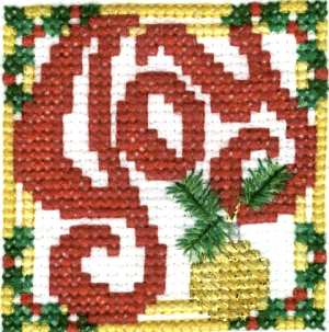 Joy Christmas Cross Stitch Finished Front