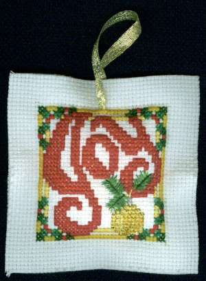 Joy Christmas Cross Stitch With Batting