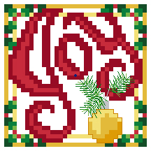 Joy Christmas Cross Stitch Design