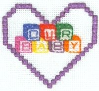 free cross stitch pattern baby blocks