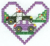 Free Police Car Cross Stitch
