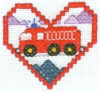 Fire Truck Cross Stitch Pattern