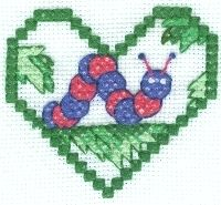 Free Caterpillar Cross Stitch Pattern