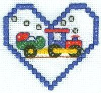 Baby's Train Cross Stitch Pattern