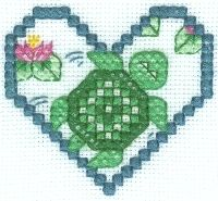 Tribal Turtle Free Cross Stitch Pattern