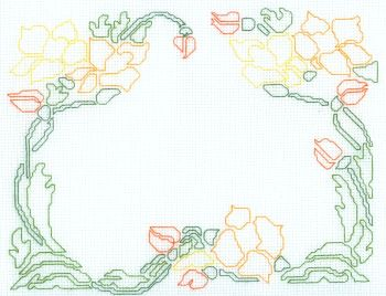 Mother's Day Cross Stitch Design Outline of Shapes