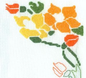 Filling in the Mother's Day Cross Stitch Design