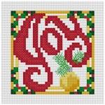 Go to Joy Christmas cross stitch ornament pattern page