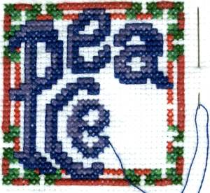 Peace Christmas Cross Stitch