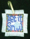 Let it Snow Christmas Cross Stitch