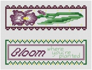 Go to Garden Treasures - Iris Bookmark pattern page